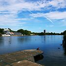 The Serpentine on a summer day by Phill Sacre