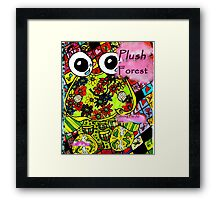 Plush forest coloring book cover Framed Print
