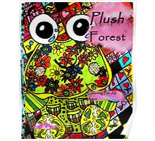 Plush forest coloring book cover Poster
