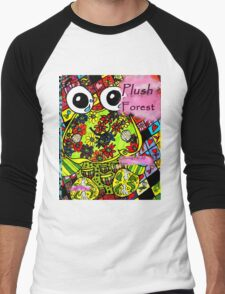 Plush forest coloring book cover Men's Baseball ¾ T-Shirt