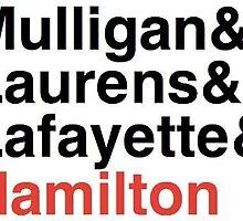 Hamilton Musical - Hamilton's 3 Friends by dabb13z