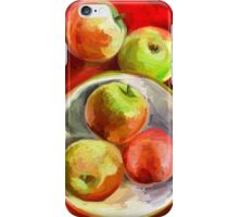 Apples on a Red Platter iPhone Case/Skin