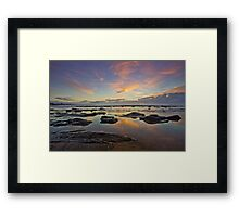 Bateau Bay, NSW Sunrise Framed Print