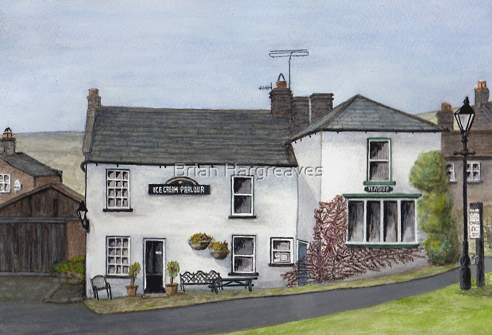 """Reeth Ice Cream Parlour, Swaledale"""" by Brian Hargreaves 