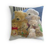 One Big Happy Family Throw Pillow