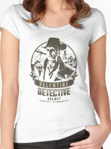 Valentine Detective Agency - Green Women's Fitted Scoop T-Shirt