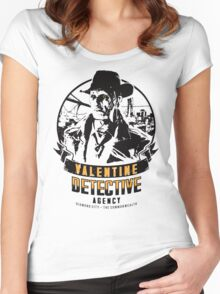 Valentine Detective Agency - Black Women's Fitted Scoop T-Shirt