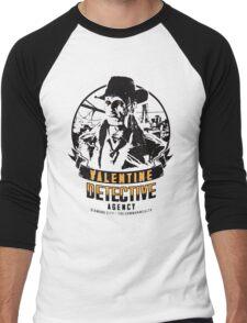 Valentine Detective Agency - Black Men's Baseball ¾ T-Shirt