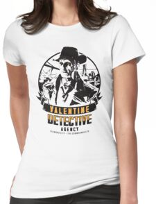 Valentine Detective Agency - Black Womens Fitted T-Shirt