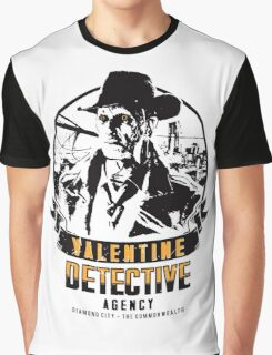 Valentine Detective Agency - Black Graphic T-Shirt