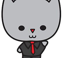 Kawaii Cat with Tie by ValeriesGallery