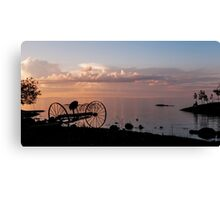 Evening Bell. Sunset on Valaam Island. Northern Russia Canvas Print