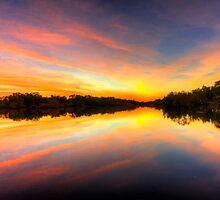 Sunset on the Nicholson by Stephen  Nicholson