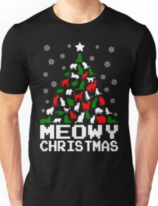 Meowy Christmas Cat Tree Unisex T-Shirt