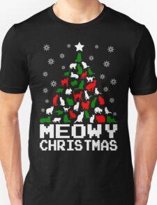 Meowy Christmas Cat Tree T-Shirt