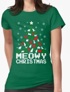 Meowy Christmas Cat Tree T-Shirt