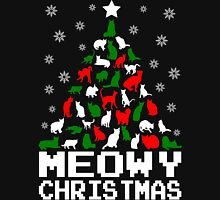 Meowy Christmas Cat Tree Women's Fitted Scoop T-Shirt