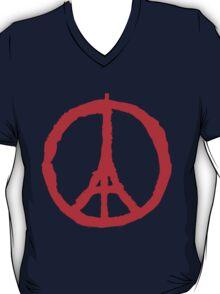 Paris Peace Symbol | Red T-Shirt