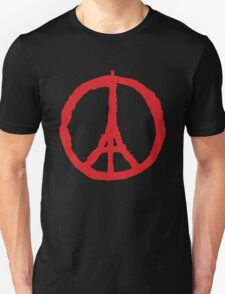 Paris Peace Symbol | Red T-Shirt