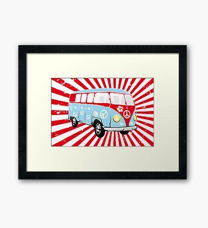 VW T1 van retro illustration Framed Print
