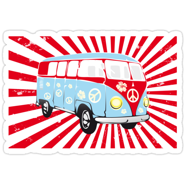 VW T1 van retro illustration by schtroumpf2510