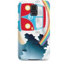VW T1 van on the beach under rainbow Samsung Galaxy Case/Skin
