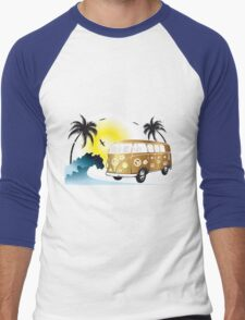 VW T1 on the beach Men's Baseball ¾ T-Shirt