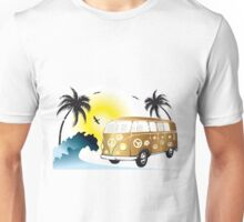 VW T1 on the beach Unisex T-Shirt