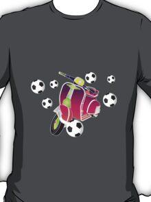 Retro vespa playing football T-Shirt