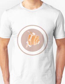 Vespa in retro colors Unisex T-Shirt