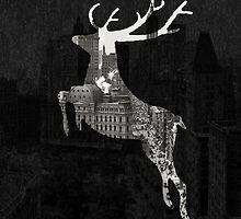 Deer City Collage 1 by Marko Köppe