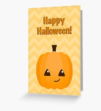 Cute Kawaii Jack o'Lantern Halloween Greeting Greeting Card