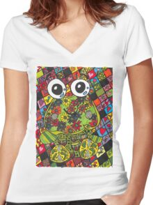 Froggie Women's Fitted V-Neck T-Shirt