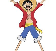 Luffy Adventure Time by tsunamiSunshine