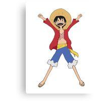 Luffy Adventure Time Canvas Print