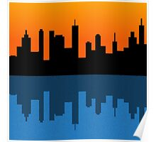 Cityscape Sunset Poster