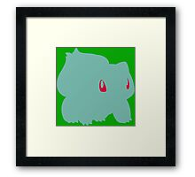 Bulbasaur Simple Framed Print