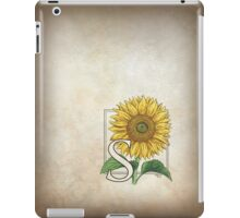 S is for Sunflower iPad Case/Skin