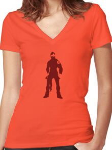 Enslaved: Monkey Variant Women's Fitted V-Neck T-Shirt