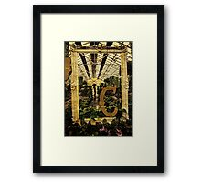 "Grungy Melbourne Australia Alphabet Series Letter ""C"" Conservatory Framed Print"