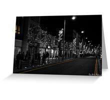 Middlesbrough Christmas Lights Greeting Card