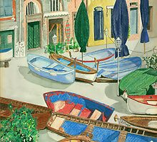 Italian Port by Leslie Gustafson