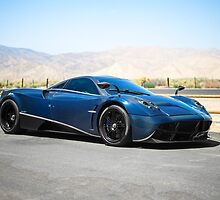 Blue/Black Pagani Huayra  by axion23