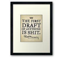 First Drafts Framed Print