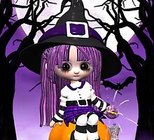 Cute Halloween Greeting Card by Moonlake