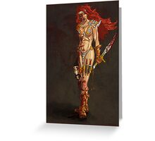 Red Sonja at Last!! Greeting Card