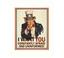Uncle Sam Fear & Ignorance Art Print