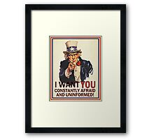 Uncle Sam Fear & Ignorance Framed Print
