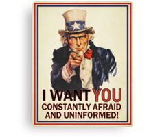 Uncle Sam Fear & Ignorance Canvas Print