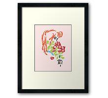 Girl with Flowers Framed Print